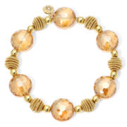 Monet® Yellow Stone Gold-Tone Stretch Bracelet