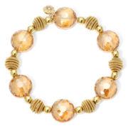 Monet® Yellow Stone Gold-Tone Stretch Bracelet