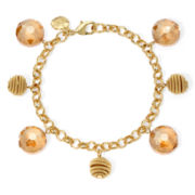 Monet® Yellow Stone Gold-Tone Shaky Bracelet