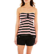 Pure Paradise Striped Bandini Swim Top or Solid Board Shorts