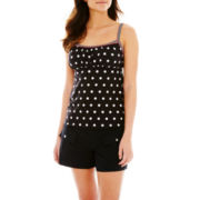 Pure Paradise Polka Dot Tankini Swim Top or Solid Board Shorts
