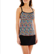 Pure Paradise Print Tankini Swim Top or Solid Skirted Bottoms
