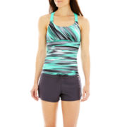 ZeroXposur® Wide-Strap Tankini Swim Top or Knit Board Shorts