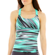 ZeroXposur® Wide-Strap Tankini Swim Top