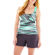 ZeroXposur® Wide-Strap Tankini Swim Top or Knit Board Shorts - Plus
