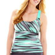 ZeroXposur® Wide-Strap Tankini Swim Top - Plus