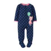 Carter's® Long-Sleeve Footed Polka Dot Bodysuit – Girls 2t-5t