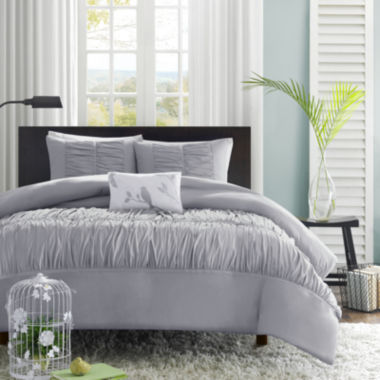 jcpenney.com | Mi Zone Delia Ruched Duvet Cover Set