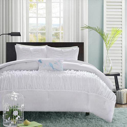 Mi Zone Tatiana Ruched Comforter Set