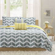 Intelligent Design Elle Chevron Coverlet Set