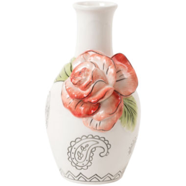 jcpenney.com | Fitz and Floyd® Paisley Park Coral Bud Vase