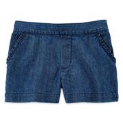 Okie Dokie® Ruffle-Pocket Flat-Front Shorts - Girls 2t-5t