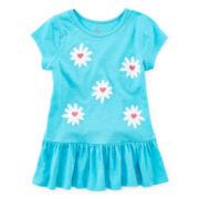 Okie Dokie® Short-Sleeve Tunic Tee - Girls 4-6x