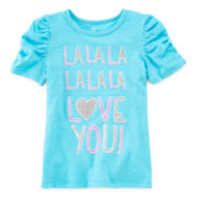 Okie Dokie® Short-Sleeve Ruched Tee - Toddler Girls 2t-5t