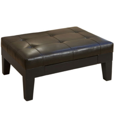 jcpenney.com | Goodwin Bonded Leather Storage Ottoman