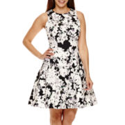 Ronni Nicole® Sleeveless Floral Fit and Flare Dress