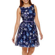 Danny & Nicole® Sleeveless Floral Fit and Flare Dress