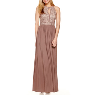 jcpenney.com | R&M Richards Sleeveless Lace Formal Halter Gown