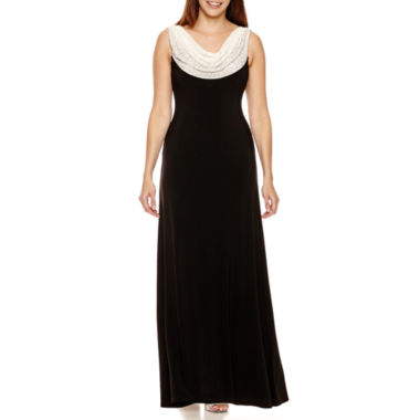 jcpenney.com | Jackie Jon Sleeveless Beaded Cowlneck Formal Gown