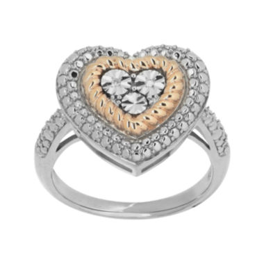 jcpenney.com |  Diamond-Accent 14K Rose Gold Over Sterling Silver Heart Ring