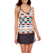 Zeroxposur® Afterglow Ladderback Tankini Swim Top or Sport Skirtini Swim Bottoms