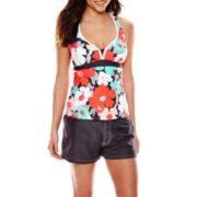 Zeroxposur® Bloom Action Tankini Swim Top or Swim Bottoms