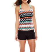 Zeroxposur® Quake Wide-Strap Tankini Swim Top or Action Swim Shorts