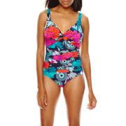 Fit Fix Twist Front Shirred Mio One-Piece Swimsuit
