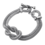 "Stainless Steel Knot 7.5"" Chain Bracelet"