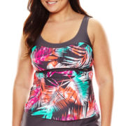 Zeroxposur® Shade Sport Tankini Swim Top - Plus