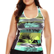 Zeroxposur® Sway Sport Tankini Swim Top - Plus