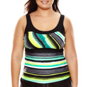 Zeroxposur® Haze Peasant Tankini Swim Top - Plus