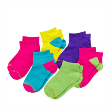 jcpenney.com | Gold Toe® 6-pk. Neon Quarter Socks