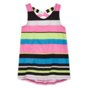 Total Girl® Striped Print Tunic Top - Girls 7-16 and Plus