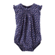 OshKosh B'Gosh® Flutter Sleeve Print Bodysuit - Baby Girls 3m-24m
