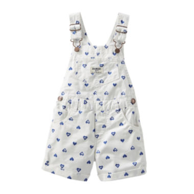 jcpenney.com | OshKosh B'gosh® Heart-Print Shortalls - Baby Girls 3m-24m