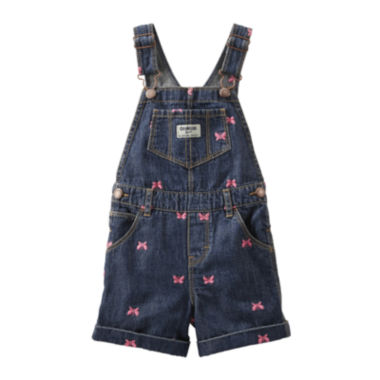 jcpenney.com | OshKosh B'gosh® Butterfly-Print Denim Shortalls - Baby Girls 3m-24m