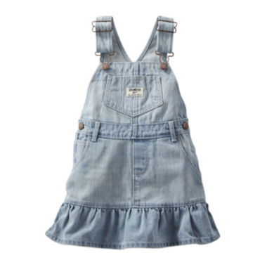 jcpenney.com | OshKosh B'gosh® Ruffle-Hem Denim Jumper - Baby Girls 3m-24m