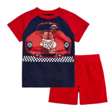 jcpenney.com | Okie Dokie® Short-Sleeve Colorblock Tee or Knit Shorts - Baby Boys newborn-24m
