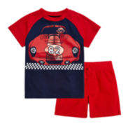 Okie Dokie® Short-Sleeve Colorblock Tee or Knit Shorts - Baby Boys newborn-24m