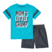 Okie Dokie® Short-Sleeve Football Tee or Knit Shorts - Baby Boys newborn-24m