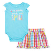 Okie Dokie® Bodysuit or Woven Skort - Baby Girls newborn-24m