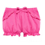 Okie Dokie® Pink Bubble Shorts - Baby Girls newborn-24m