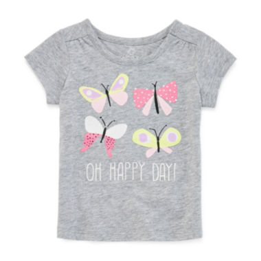 jcpenney.com | Okie Dokie® Short-Sleeve Graphic Tee - Baby Girls newborn-24m