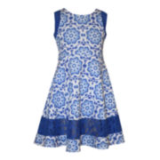 Bonnie Jean® Sleeveless Medallion Dress - Preschool Girls 4-6x