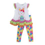 Rare Editions Bunny Dress and Leggings Set - Preschool Girls 4-6x