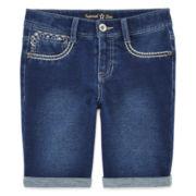 Imperial Star Rolled-Cuff Bermuda Shorts - Girls 7-16