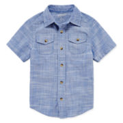 Arizona Short-Sleeve Woven Shirt - Toddler Boys 2t-5t