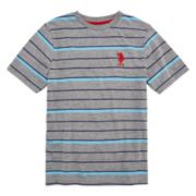 U.S. Polo Assn.® Striped V-Neck Tee - Boys 8-20