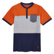 U.S. Polo Assn.® Short-Sleeve Henley Shirt - Boys 8-18
